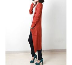 extra long cardigan/womens sweater coat/plus size sweater/womens ...