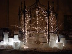 """I'm going to try this (the luminaries, not the trees) for our upcoming family """"January"""" Christmas!"""