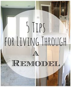 an uncomplicated life blog: 5 Tips for Living Through a Remodel