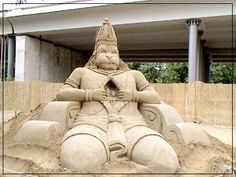 Lord Hanuman wins prize at sand sculpture festival