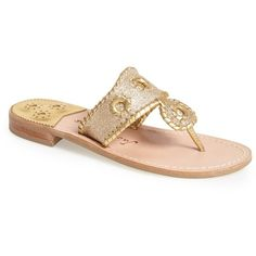 Jack Rogers Sparkle Sandal ($80) ❤ liked on Polyvore featuring shoes, sandals, gold, glitter shoes, strap shoes, gold glitter shoes, strappy sandals and gold strappy shoes