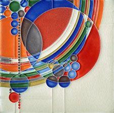 Motawi - Frank Lloyd Wright Tile,  March Balloons