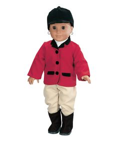 Loving this Four-Piece Riding Outfit for 18'' Doll on #zulily! #zulilyfinds