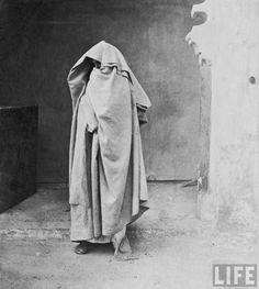 """1930 """"Egyptian muslim woman covered completely."""""""