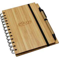 Bamboo notebook w/pen!