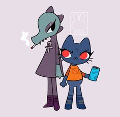 Night in the Woods - Mae and Bea by Nicolas-PX Pretty Art, Cute Art, Character Drawing, Character Design, Mae Borowski, Night In The Wood, Furry Art, Wood Art, Anime Art