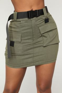 Women's Bottoms - Pants, Skirts, Leggings & More – 12 Heavy Cargo Mini Skirt - Olive Grunge Outfits, Teen Fashion Outfits, Edgy Outfits, Cute Casual Outfits, Skirt Outfits, Casual Dresses, Fashion Ideas, Gothic Fashion, Dressy Tops