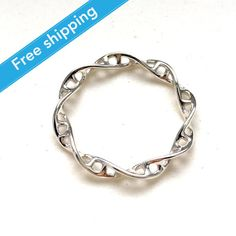 Hey, I found this really awesome Etsy listing at https://www.etsy.com/listing/227448335/science-jewelry-silver-dna-ring-3d