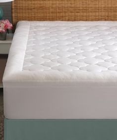 49.99-BY ALLIED 100% COTTON / OPTILOFT / 300 THREAD CT.  2''GUSSET 15''STRETCH Another great find on #zulily! White Cloud Rest Mattress Pad #zulilyfinds