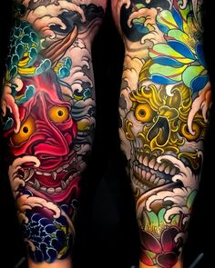 Ideas For Tattoo Sleeve Designs Art Tatoo Japanese Leg Tattoo, Japanese Legs, Japanese Tattoo Designs, Japanese Sleeve Tattoos, Best Sleeve Tattoos, Tattoo Sleeve Designs, Leg Tattoos, Body Art Tattoos, Asian Tattoo Sleeve