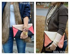 Alida Makes: Colorblock Clutch Tutorial!