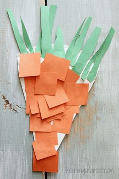 Simple Preschool Carrot craft ~ link to lots of ideas for creating Paper Plate Crafts