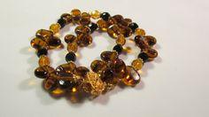 Spring Tortoise Shell glass beads bracelet Easter by yasmi65, $17.00