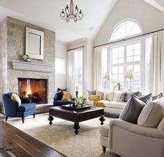 Jane Lockhart Kylemore Custom Home - traditional - living room - toronto - Jane Lockhart Interior Design
