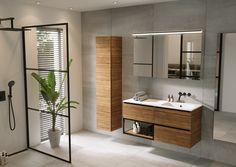 Open ruimtes met veel licht geven je het gevoel alsof je buiten bent! Deze strakke badkamer straalt een oase van rust uit! Minimalist Toilets, Minimalist Bathroom, Modern Bathroom, Bathroom Mirror Cabinet, Mirror Cabinets, Washbasin Design, Toilet Design, Room Ideas Bedroom, Bathroom Interior Design