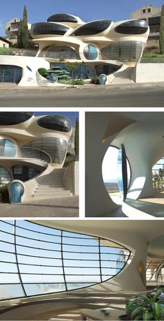 futuristic free-shaped structure by Architect Ephraim-Henry Pavie, Biomorphic House. Video: http://youtu.be/DW2XeFhV0eM
