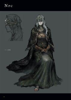 Dark Souls 3 Concept Art - Fire Keeper Concept Art