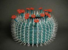 cactus made from zip ties!