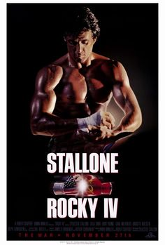 Official theatrical movie poster ( of for Rocky IV Directed by Sylvester Stallone. Rocky Sylvester Stallone, Stallone Rocky, Xmas Movies, Great Movies, Rocky Balboa, Stallone Movies, Brigitte Nielsen, Blind Test, 1980s