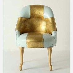 """""""#upcycling #upholstery #restoration #rebamp #recycled #makeover #teal #mint #colourful #gold #golden #chair #ArmChair #diy #Design #blue #lightblue…"""""""