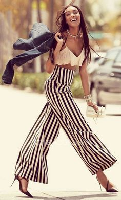 Striped Wide Leg Pan