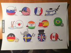 Just finished my countryball drawings. I thought you might appreciate them.   #polandball #countryball #flagball
