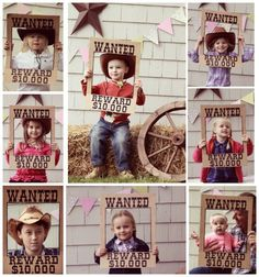 WANTED poster made from a cardboard box for a photo shoot prop at a cowboy/ cowgirl party