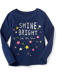 Shop fun graphic tees for your little girl at Old Navy. From various styles and designs, Old Navy is the only place you need to upgrade her wardrobe. Cute Girl Outfits, Toddler Girl Outfits, Toddler Girls, Custom T Shirt Printing, Printed Shirts, Girls Tees, Shirts For Girls, Kids Dress Wear, Kids Suits