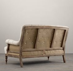 Deconstructed French Victorian Settee | Ottomans | Restoration Hardware