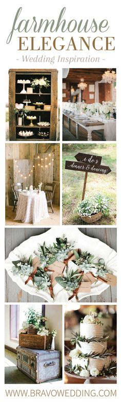 Farmhouse Elegance is a french-country inspired wedding style that blends traditional rustic and shabby chic qualities with soft, elegant neutrals. See this look come to life at our annual Wedding Affair Bridal Show! Wedding Inspiration, Wedding Ideas, Natural Scenery, Bridal Showers, Rehearsal Dinners, Rustic Style, French Country, Affair, Wedding Styles