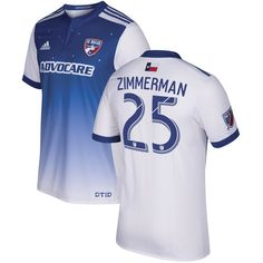 Walker Zimmerman FC Dallas adidas 2017 Secondary Authentic Jersey - Blue