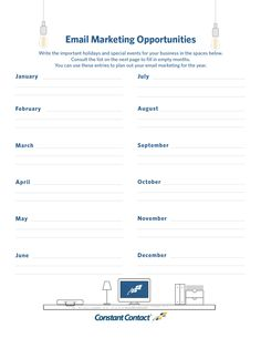 marketing schedule template Template: How to Create an Email Marketing Plan in Minutes Marketing Strategy Template, Marketing Opportunities, Email Marketing Strategy, Small Business Marketing, Internet Marketing, Content Marketing, Marketing Proposal, Email Campaign, How To Plan