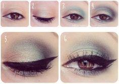 Ruskeita silmiä korostava meikki