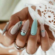 Chic Nails, Stylish Nails, Best Acrylic Nails, Acrylic Nail Designs, Milky Nails, Nagel Bling, Nagellack Design, Fire Nails, Pretty Nail Art