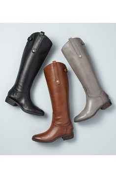 Sam Edelman 'Penny' Boot (Women) at Nordstrom.com. A rich, burnished finish enhances a knee-high leather boot with a svelte slanted shaft.