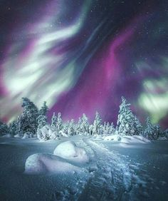 Northern lights in Holand