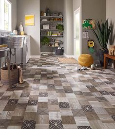 You can get Pergo tile too! This Pergo Max Premier Crestwood Tile is fun and full of style.