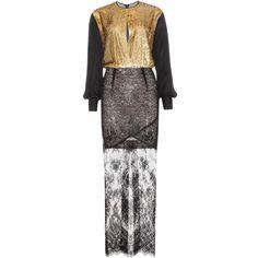 mytheresa.com - Floor-length lace dress - Midi & long - Dresses - Clothing - Alessandra Rich - Luxury Fashion for Women / Designer clothing, shoes, bags