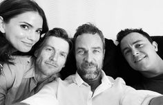 Teen Wolf: Shelley Hennig, Gideon Emery, JR Bourne, and Ryan Kelley (photo via Ryan's Instagram)