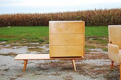 Paul Mccobb Planner Group Bench Cabinet Mid Century Modern