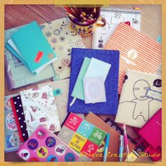 Some of our favorite notebooks. Happenning at Believe creative studio
