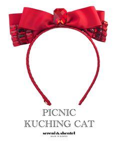 Headband by Sereni & Shentel 2012 Picnic Collection - Kuching Cat. Made in Borneo.