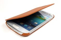 Brown Plated Leather Case For Samsung Galaxy S34G
