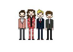 One Direction - 2015 X-Factor - cross stitch pattern by Nerdstitcher on Etsy