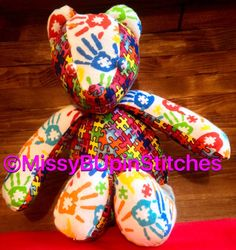 A personal favorite from my Etsy shop https://www.etsy.com/listing/260347116/custom-teddy-bear