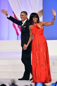 President Obama and First Lady Michelle Obama attend the Commander-in-Chief's Ball at the Walter E. Washington Convention Center in Washington, D.C.