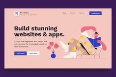 Ad: Bootstrap Landing Page HTML Template by Nice, Very Nice on Foundation is a bootstrap landing page template for startups and businesses. We want to make it easy for people who have limited programming Bootstrap Template, Html Templates, Page Template, Website Template, Design Templates, Event Landing Page, Landing Page Html, Landing Page Design, Web Design Trends