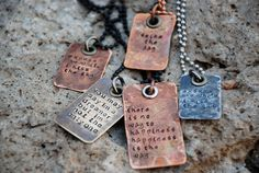 Hand Stamped Song Lyrics And Quotes by BlackMoonStudio on Etsy, $27.00