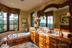 Master Bath - $7 million dollar La Jolla Cove Estate - From the world of Marc Weisberg Architectural | Real Estate Interior photography.