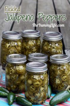PICKLED JALAPENO PEPPER SLICES. These are so much better than those store jars! Store in the fridge for months, or can them to last longer & give as gifts. www.theyummylife.com/Pickled_Jalapeno_Peppers
